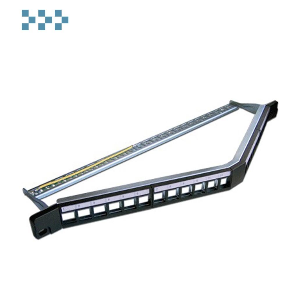 "Патч-панель наборная 19"" компактная угловая, экранированная LANMASTER LAN-PPAC24OK-STP"