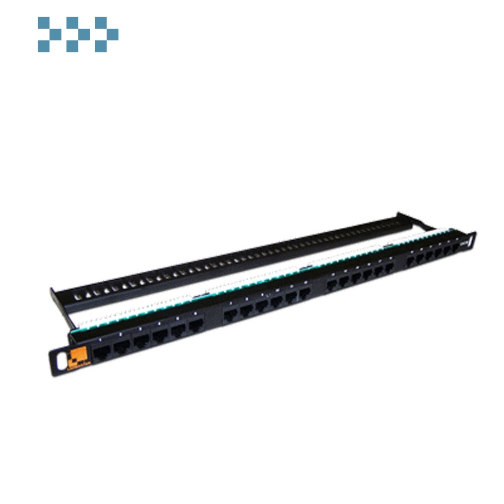 Патч-панель LANMASTER компактная 24 порта, UTP, кат.5E, 0.5U LAN-PPC24U5E