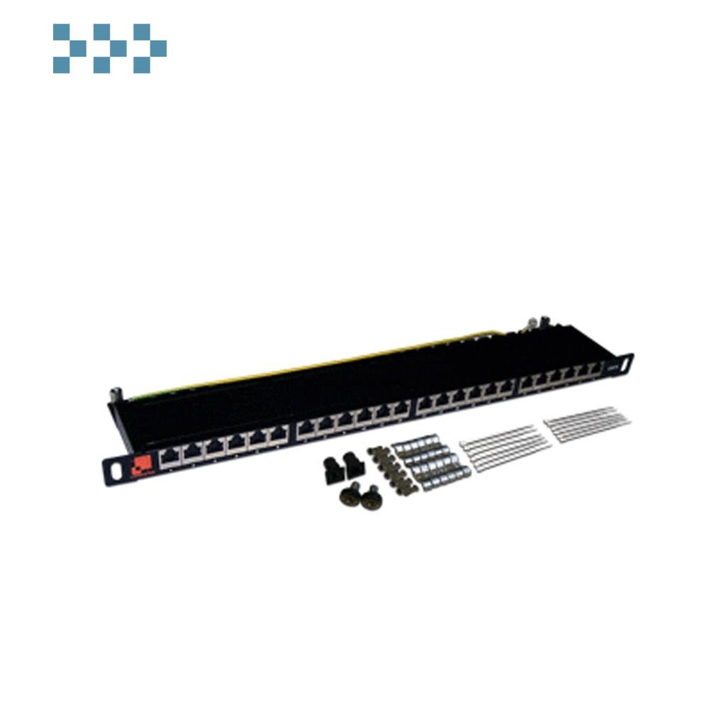 Патч-панель компактная 24 порта, UTP, LANMASTER LAN-PPC24U6