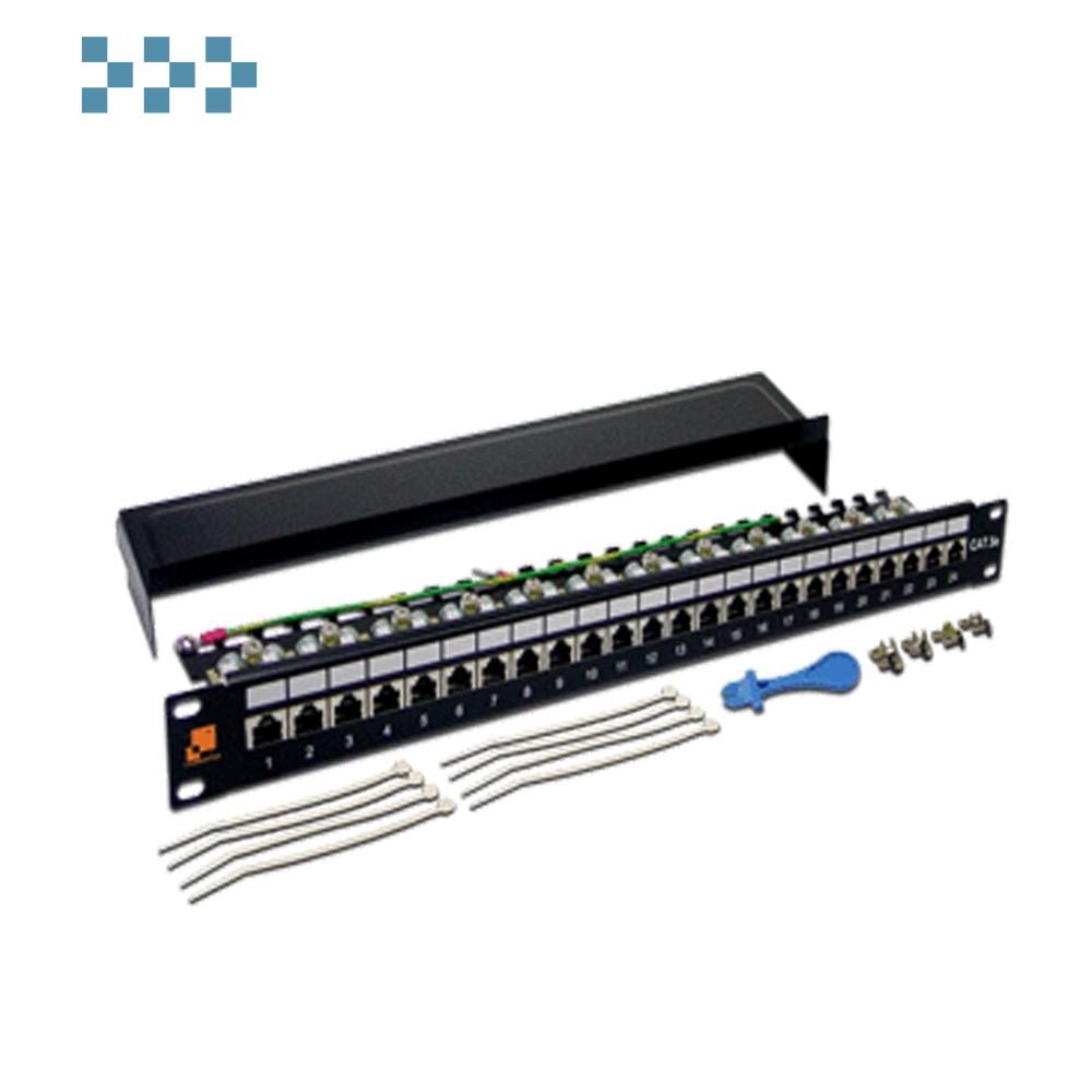 Патч-панель LANMASTER 24 порта, STP, кат.5E, 1U LAN-PPL24S5E