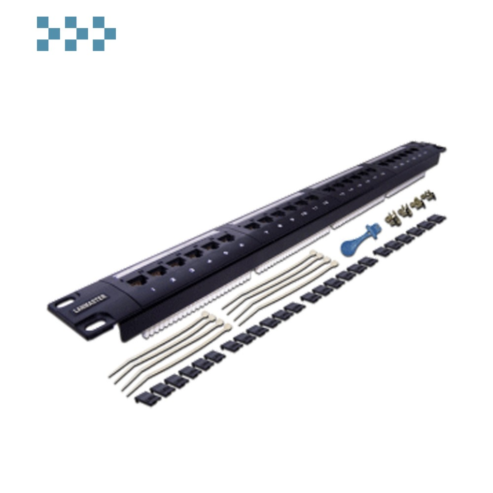 Патч-панель LANMASTER 24 порта, UTP, кат.5E, 1U LAN-PPL24U5E