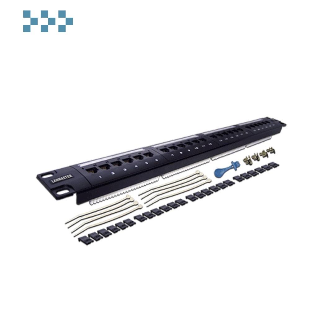 Патч-панель 24 порта, UTP LANMASTER LAN-PPL24U6