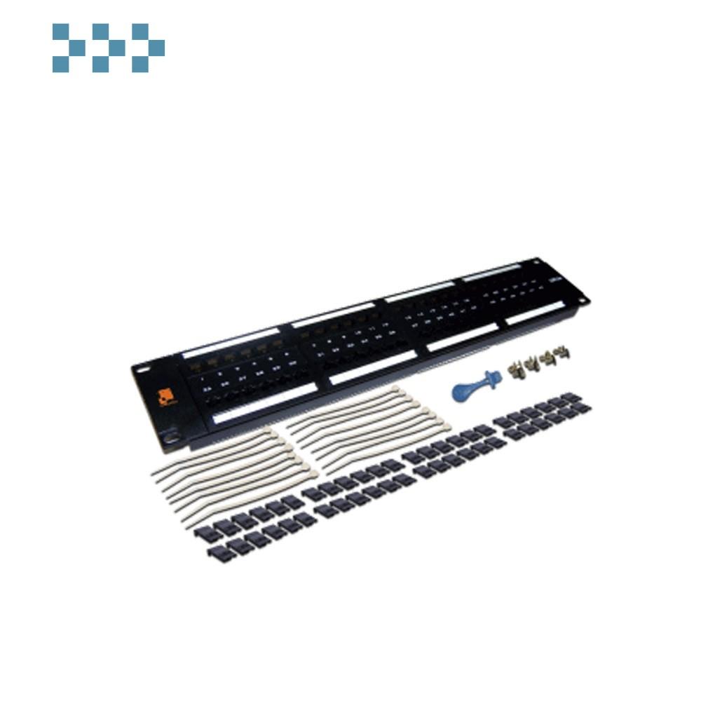Патч-панель LANMASTER 48 портов, UTP, кат.5E, 2U LAN-PPL48U5E