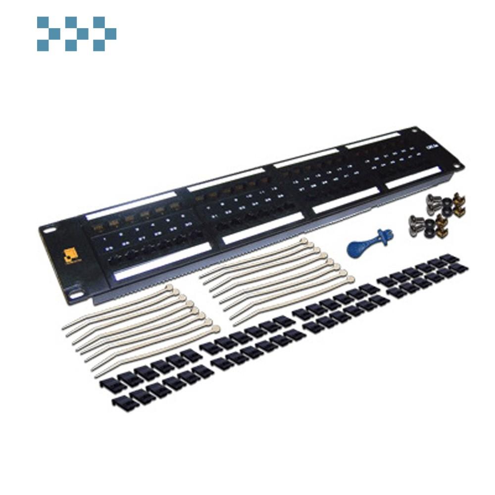 Патч-панель 48 портов, UTP, LANMASTER LAN-PPL48U6