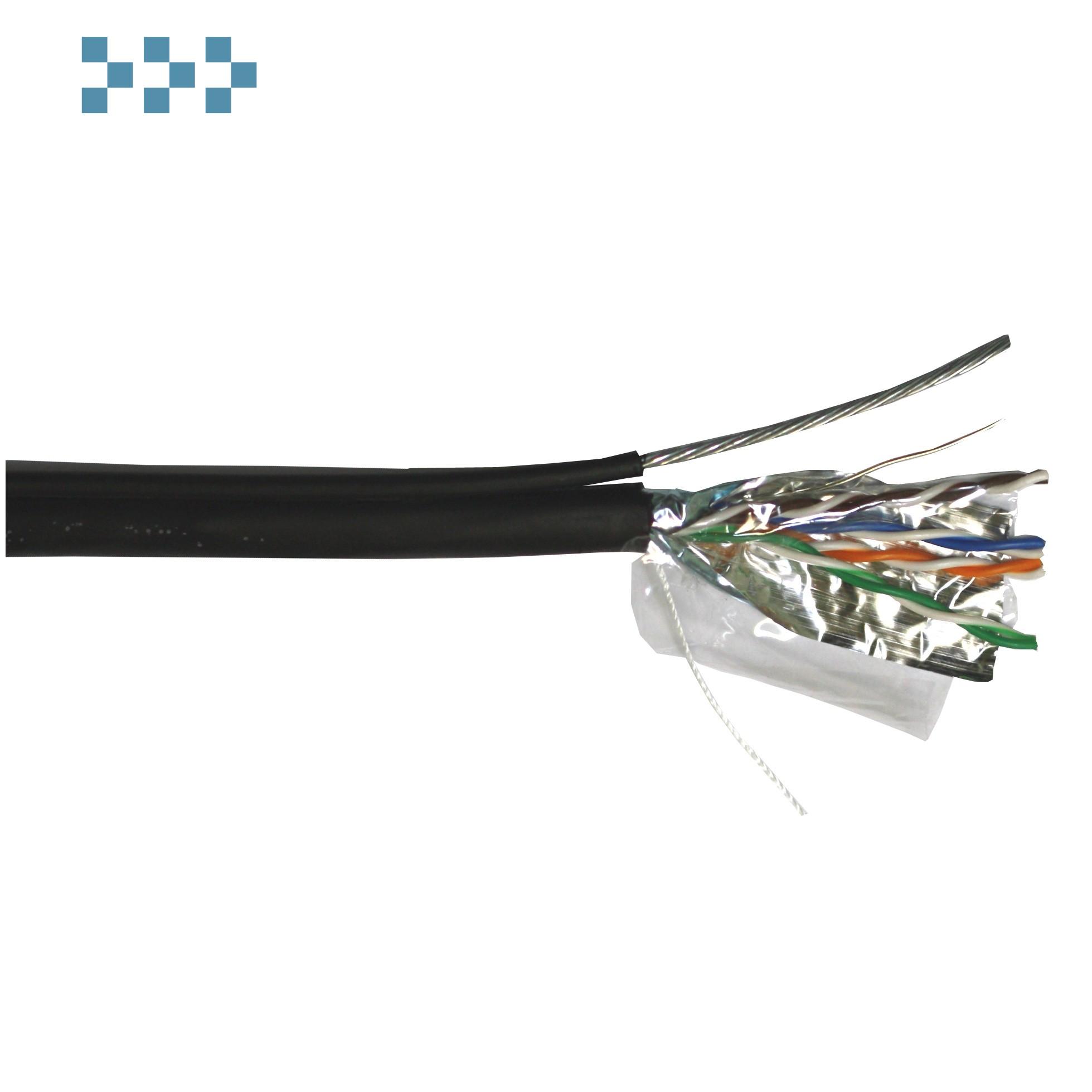 Кабель FTP 4-х парный категории 5е для наружной прокладки с тросом TWT-5EFTP-OUT-TR