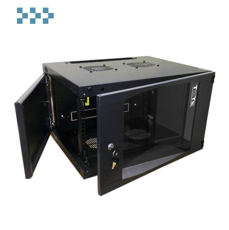 Телекоммуникационный шкаф настенный серии TWT 'NEXT' TWT-CBWNG-6U-6×4-BK