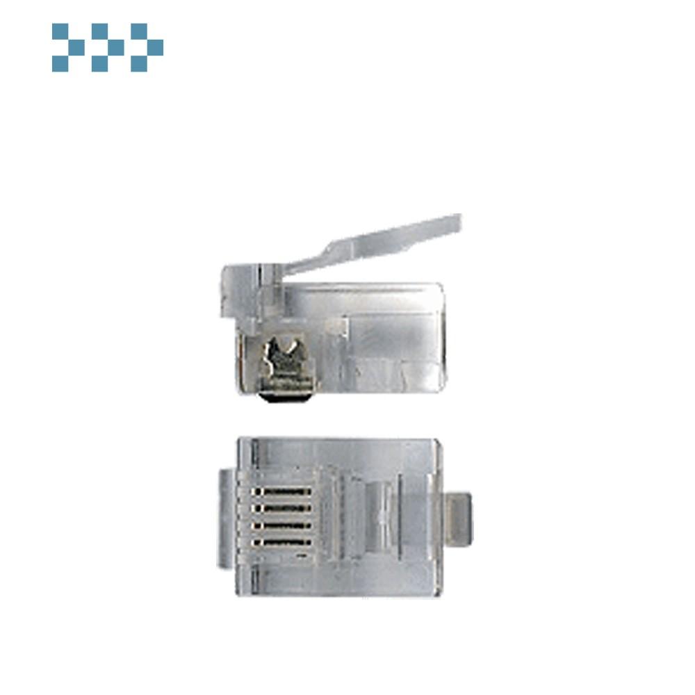 Коннектор телефонный RJ12  6-ти контактный TWT-PL12-6P6C
