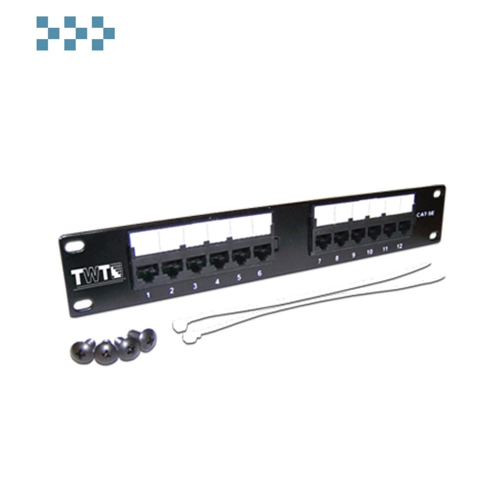 Неэкранированная 10″ патч-панель, 12 портов TWT-PP12UTP-10