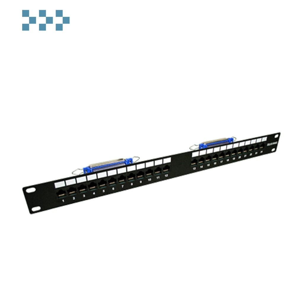 """Патч-панель TELCO, 19"""", 1U, 24 порта TWT-PP24TLC-3645"""
