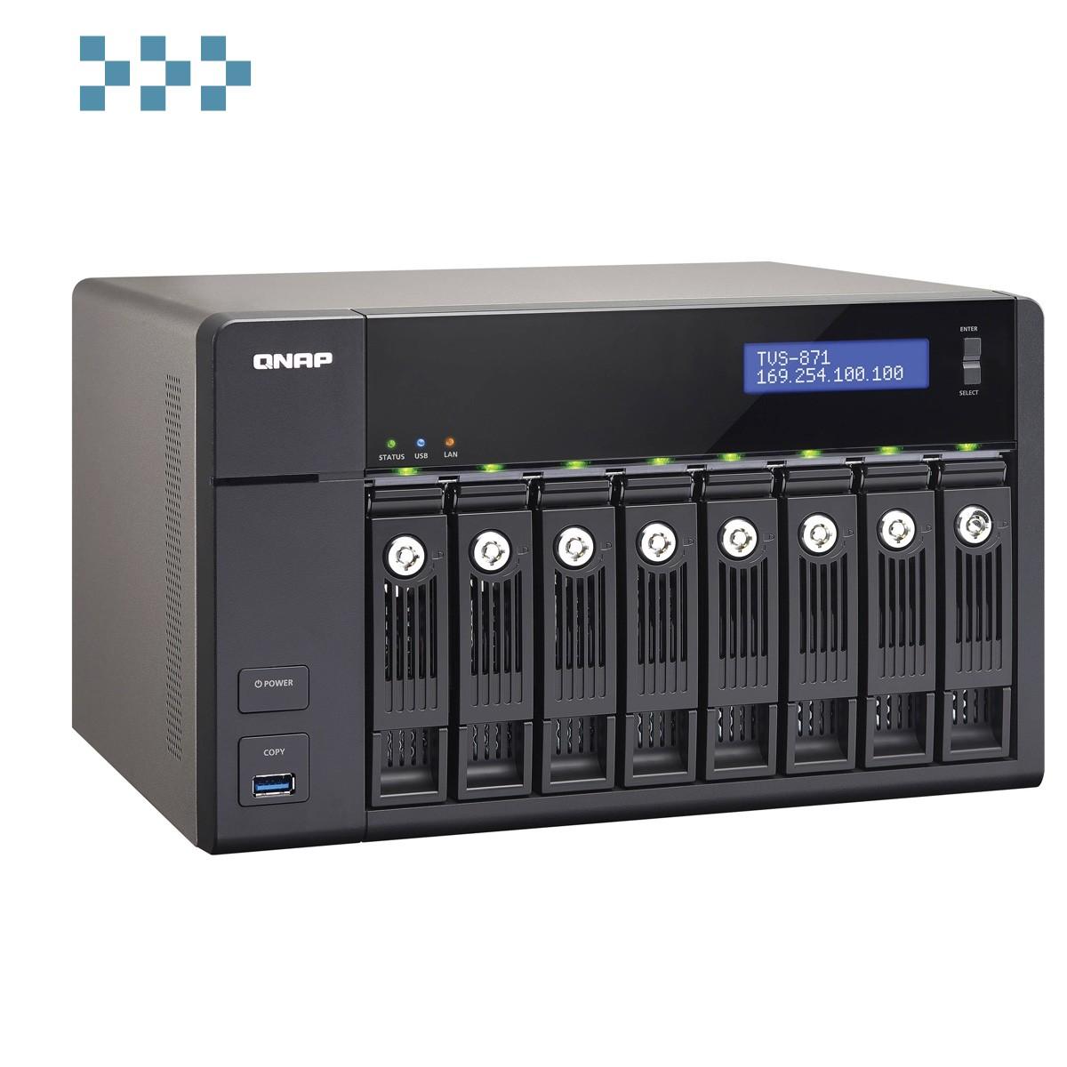 Сетевой накопитель QNAP TVS-871-PT-4G/TVS-871-i3-4G/TVS-871-i5-8G