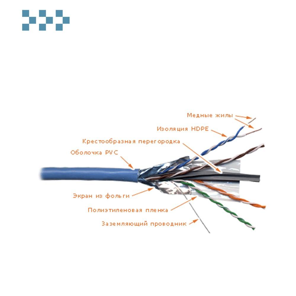 Кабель FTP 4 пары, категория 6, с перегородкой LANMASTER LAN-6EFTP-BL
