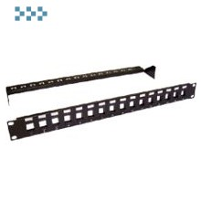 Патч-панель наборная 19′, 24 порта, неэкранированная LANMASTER LAN-PP24OK-UTP