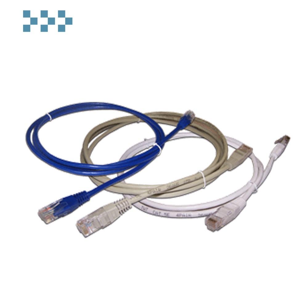 Патч-корд 2-х парный TWT UTP кат.5e TWT2-45-45-0.5-GY
