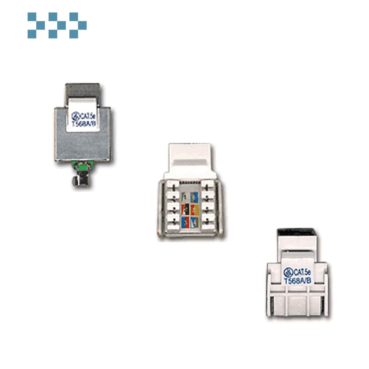 Розеточные телекоммуникационные модули TWT-OK45STP-110WH