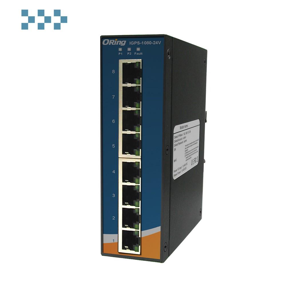Промышленный PoE коммутатор ORing IGPS-1080-24V