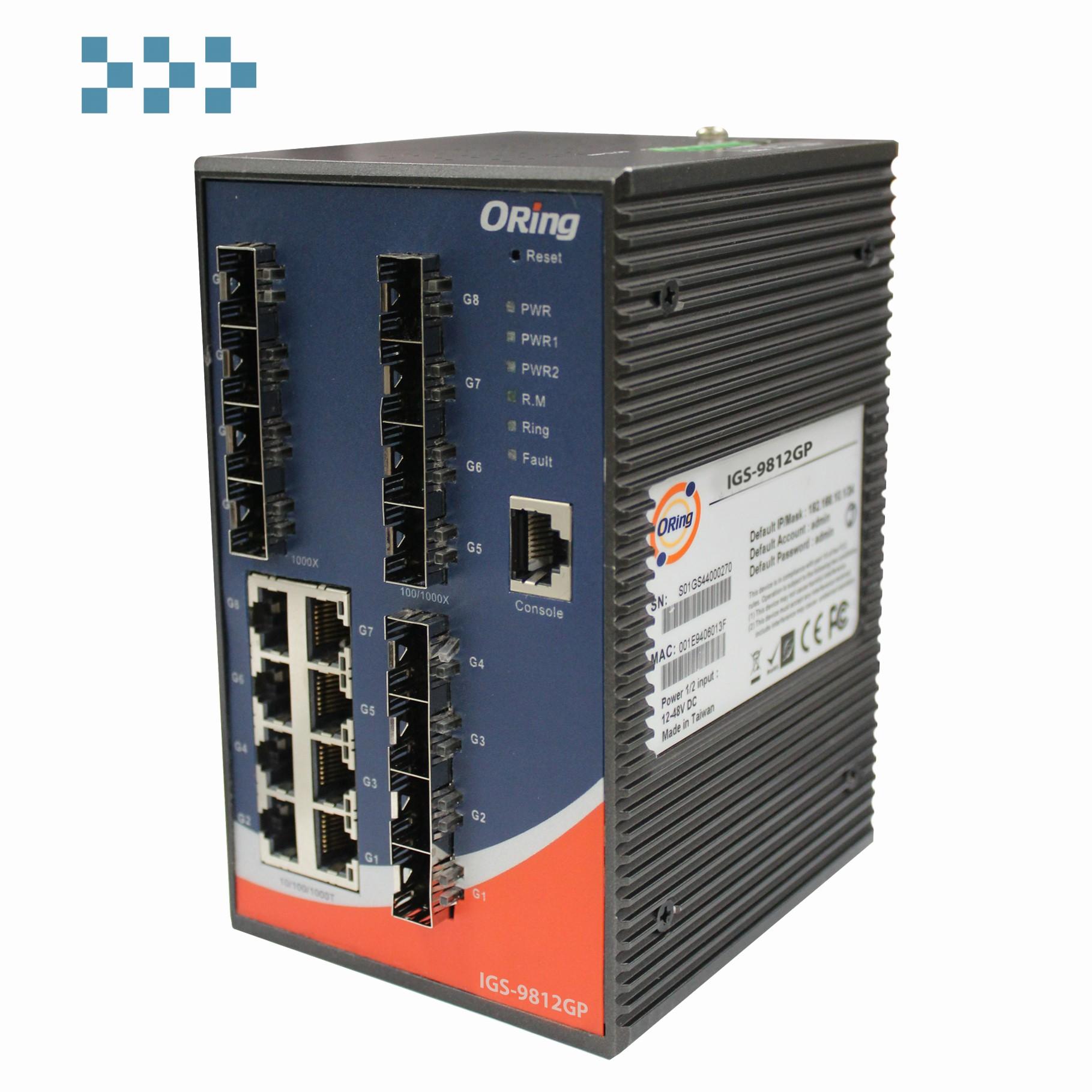Промышленный коммутатор ORing IGS-9812GP