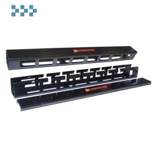 19″, 1U пластиковый с крышкой LANMASTER LAN-ORG/CVP-1U