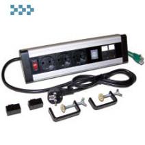 Блок розеток LANMASTER LAN-WA-DC/3G+2UC+2C6