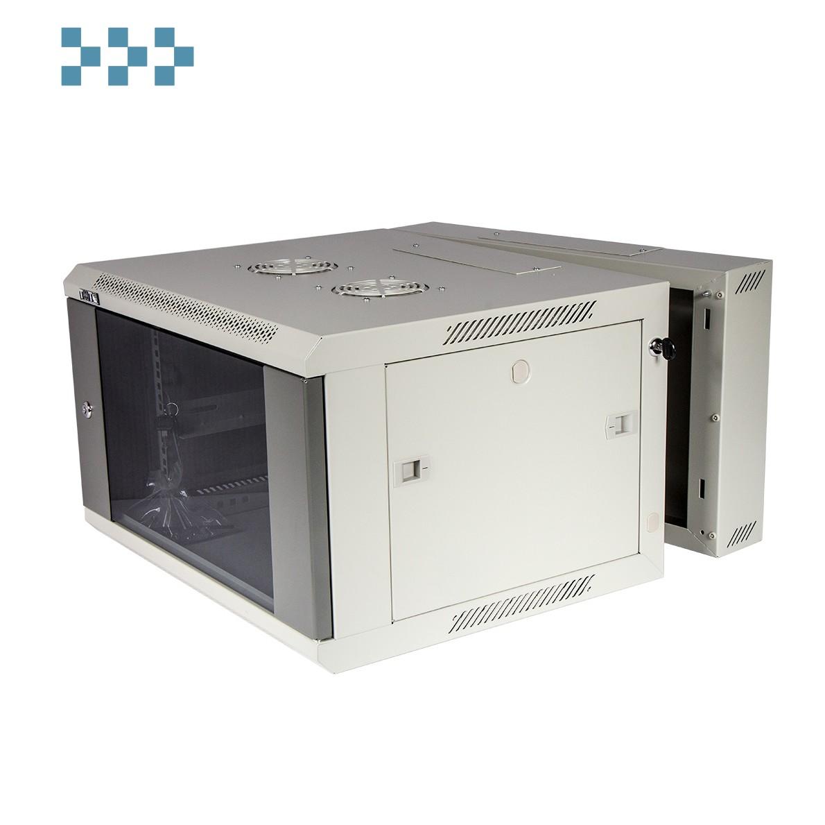 Шкаф настенный серии Pro 3-секционный со стеклянной дверью TWT-CBW3G-6U-6×6-GY