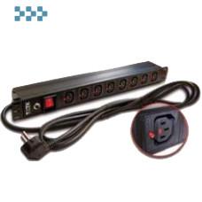 Блок силовых розеток 19″ TWT-PDU-10A8C3L-3.0