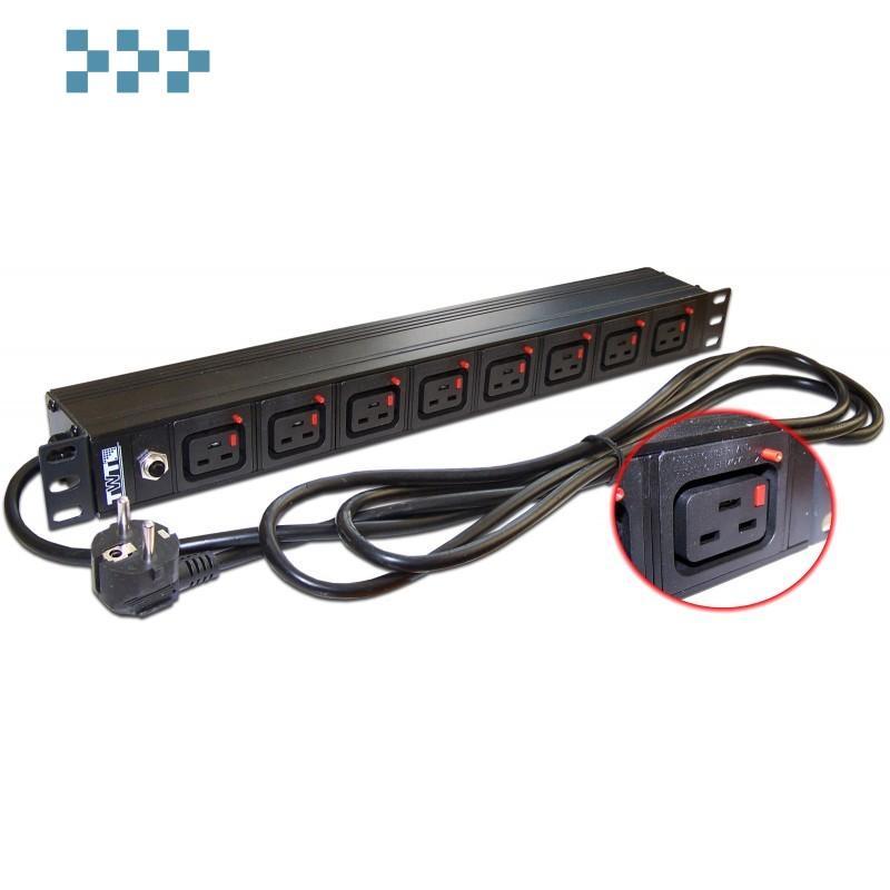 Блок силовых розеток 19″ TWT-PDU-16A8C9L-3.0