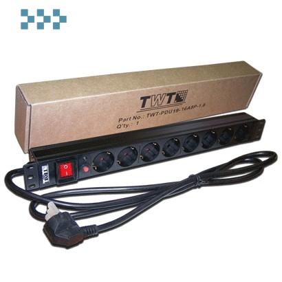Блок силовых розеток 19″ TWT-PDU19-10A8C3