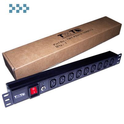 Блок силовых розеток 19″ TWT-PDU19-10A8P