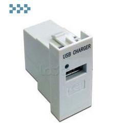 Модуль USB-зарядки LANMASTER LAN-EZ45x22-1U/R2-WH