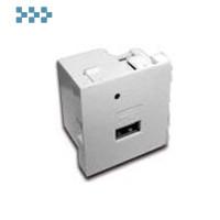 Модуль USB-зарядки, 2 порта LANMASTER LAN-EZ45x45-1U/R2-WH