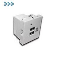 Модуль USB-зарядки, 2 порта LANMASTER LAN-EZ45x45-2U/R2-WH
