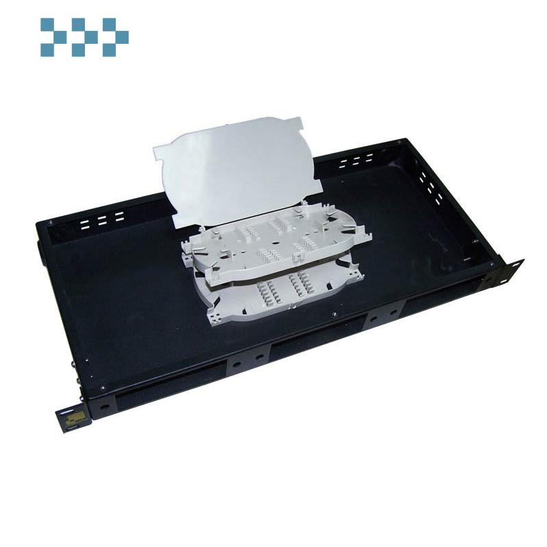 Кросс оптический 19″ на 24 адаптера, 1U, выдвижной LANMASTER LAN-FOBM-RMS-24SC
