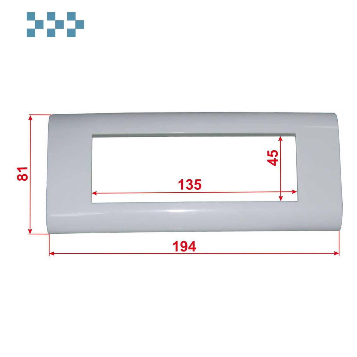 Лицевая рамка, французский стандарт LANMASTER LAN-FR45X135-WH