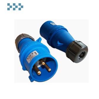 Вилки IEC309, однофазные  LANMASTER LAN-IEC-309-32A1P/M