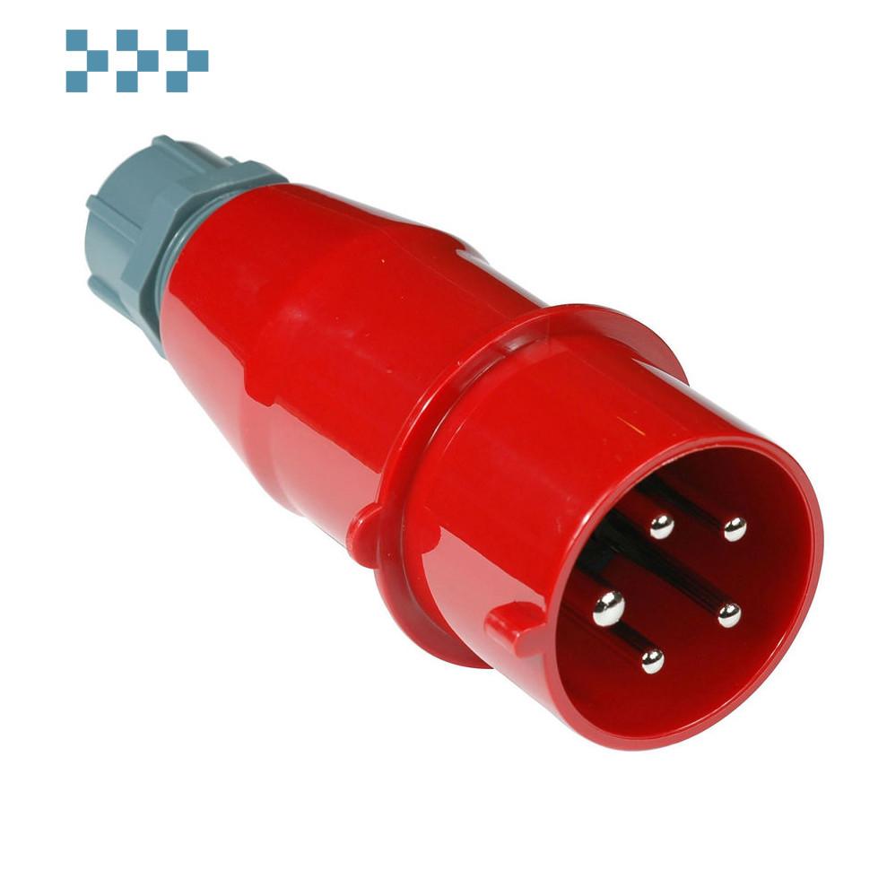 Вилка IEC 309 трехфазная LANMASTER LAN-IEC-309-32A3P/M