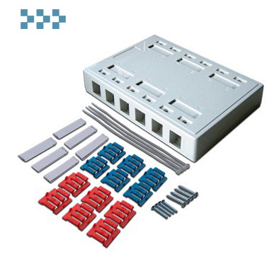 Коробка настенная на 12 модулей Keystone LANMASTER LAN-MB-12K-WH