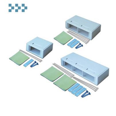 Коробка настенная под модульные вставки LANMASTER LAN-MB-M4-WH