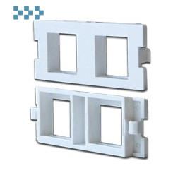 Модульные вставки в розетки LAN-MB LANMASTER LAN-MBP-2OK-WH