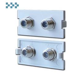 Модульные вставки в розетки LAN-MB LANMASTER LAN-MBP-2TV/F-WH