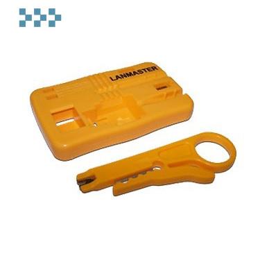 Монтажная площадка для модулей Keystone, с инструментом для разделки кабеля LANMASTER LAN-OK-FIX