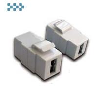 Модуль USB, типа Keystone LANMASTER LAN-OK-USB20-AA/V-WH