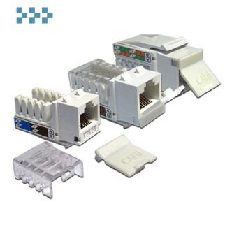 Модуль RJ-45, неэкранированный, типа Keystone LANMASTER LAN-OK45U6/90-WH