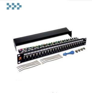 Патч-панель экранированная 19″, 24 порта LANMASTER LAN-PPL24S6A