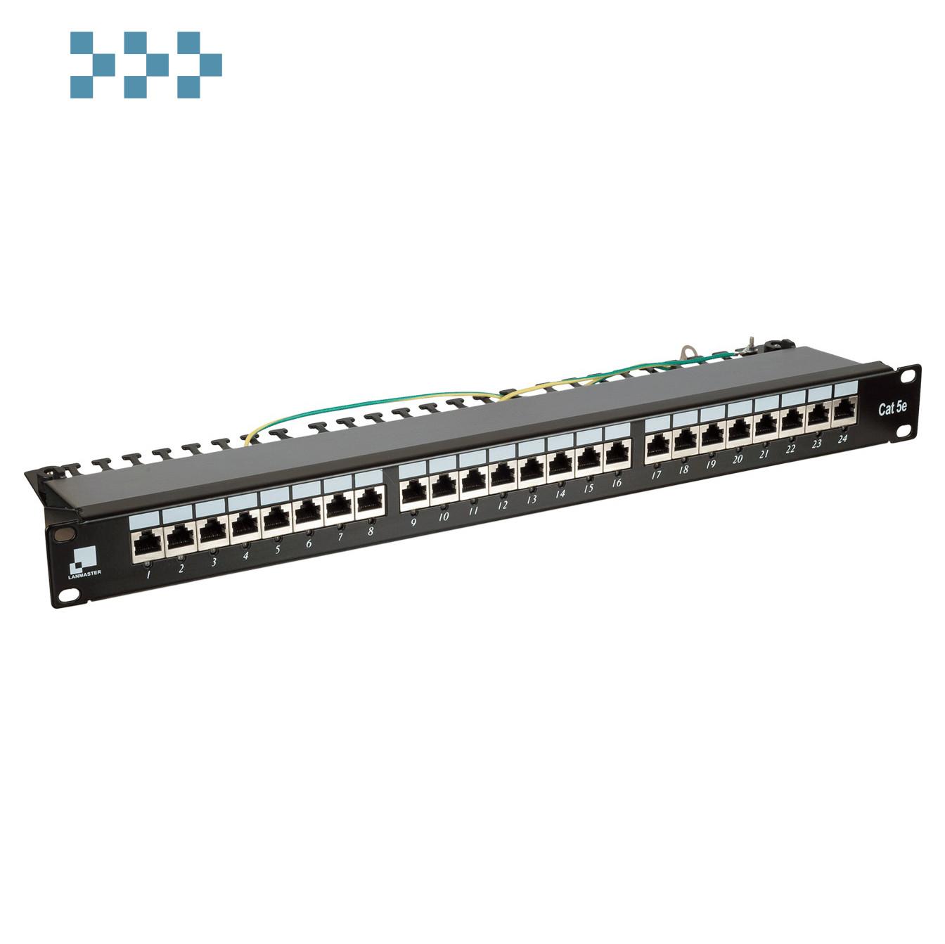 Патч-панель 24 порта с индикаторами, STP, LANMASTER LAN-PPi24S5E