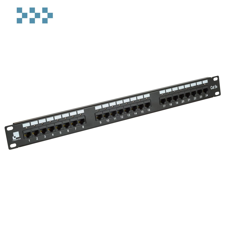 Патч-панель 24 порта с индикаторами, UTP LANMASTER LAN-PPi24U5E