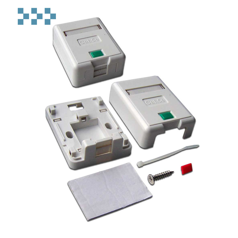 Коробка настенная со шторками LANMASTER LAN-SA1/S-WH