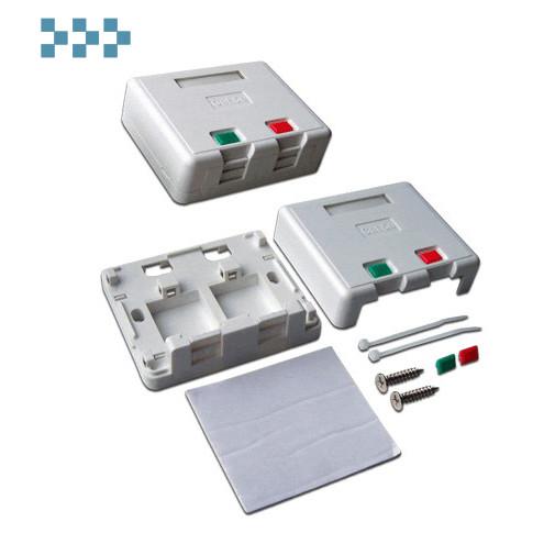 Коробка настенная со шторками LANMASTER LAN-SA2/S-WH