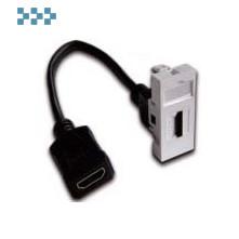 Вставка с адаптером HDMI, с удлинителем LANMASTER LAN-SIP-22HDMI-WH