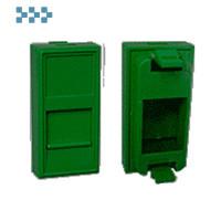 Вставка 22,5х45, 1 порт, со шторкой, зелена LANMASTER LAN-SIP-22N-GN