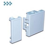 Одинарная и двойная вставка-заглушка LANMASTER LAN-SIP-23B-WH