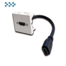Вставка с адаптером HDMI, с удлинителем LANMASTER LAN-SIP-23HDMI-WH